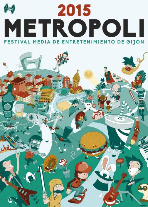 Metropoli Culture Fest vector illustration