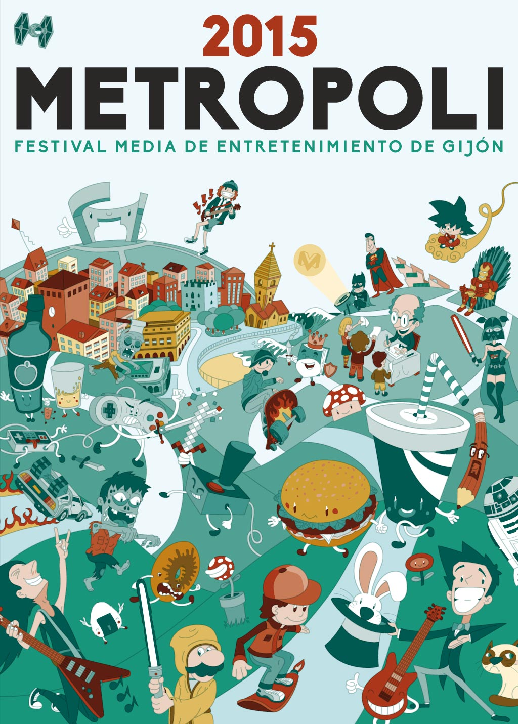 poster vector illustration for metropoli gijón thetoonplanet