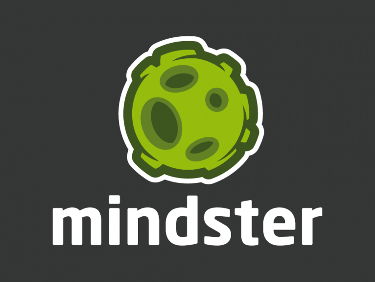 Logo design created for Mindster, a online creative social network for illustrator and designers, company based in Bilbao, Spain.