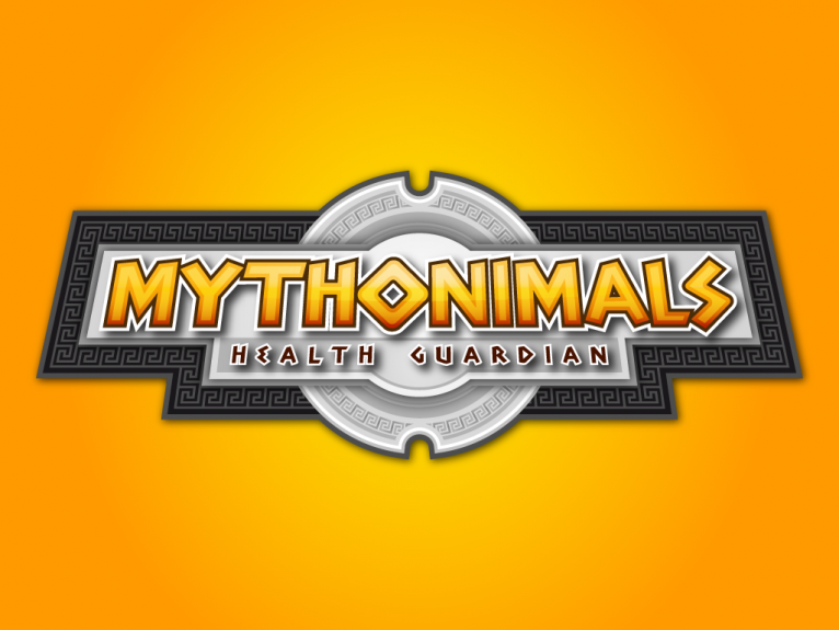 Mythonimals, logo design created for a pet battle indie video game based in ancient Greece, developed by Okinaki and Bigtree Games, indie video game developer companies from Asturias, Spain.