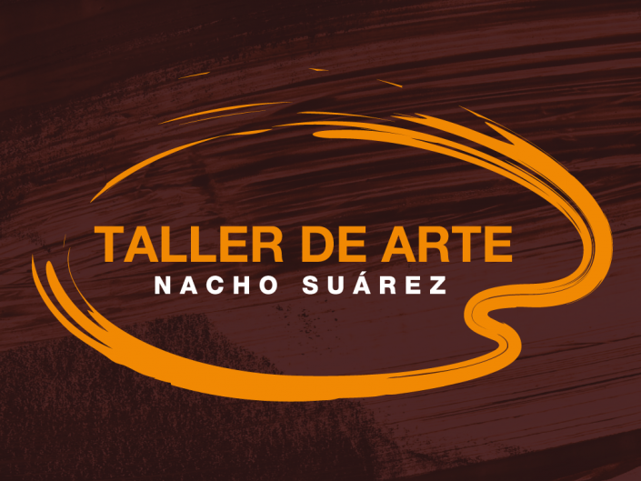 Logo design created for Nacho Suárez art studio, he is an artist and art teacher from Áviles, Asturias.
