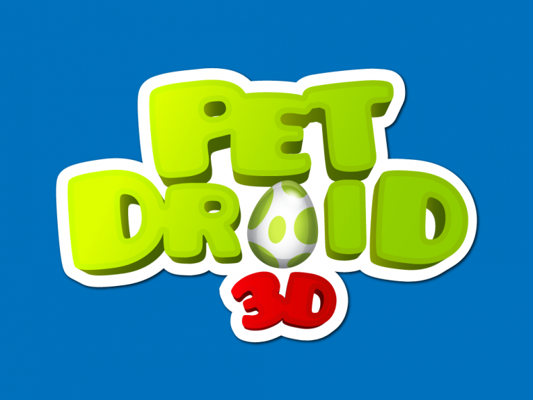 Logo design created for Pet Droid 3D, a pokémon pet style indie video game developed in Spain.
