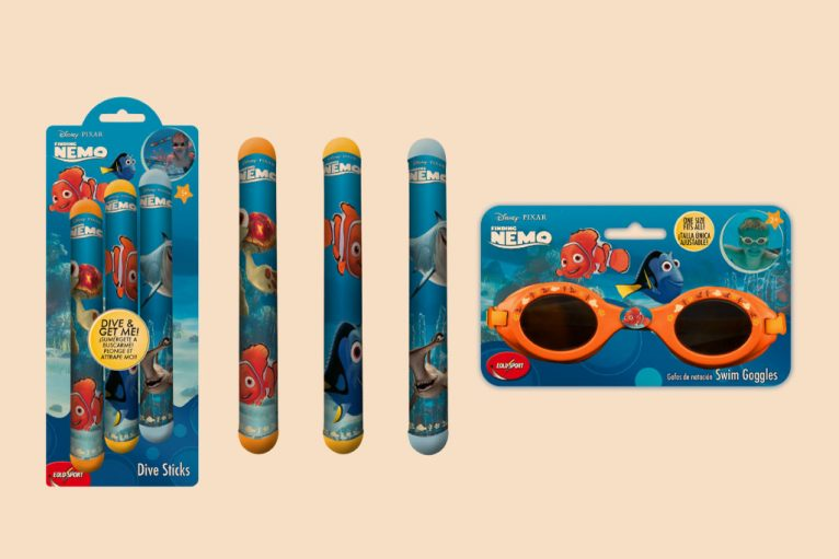 Pixar Nemo water toys graphic design artwork