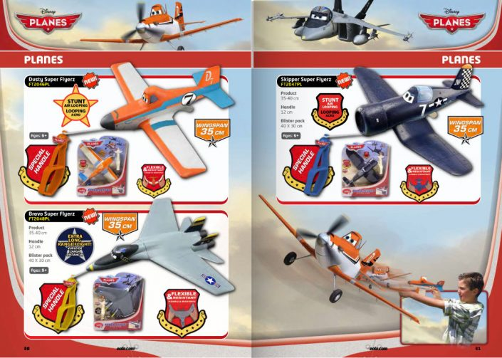 Disney Planes catalog pages layout graphic design artwork