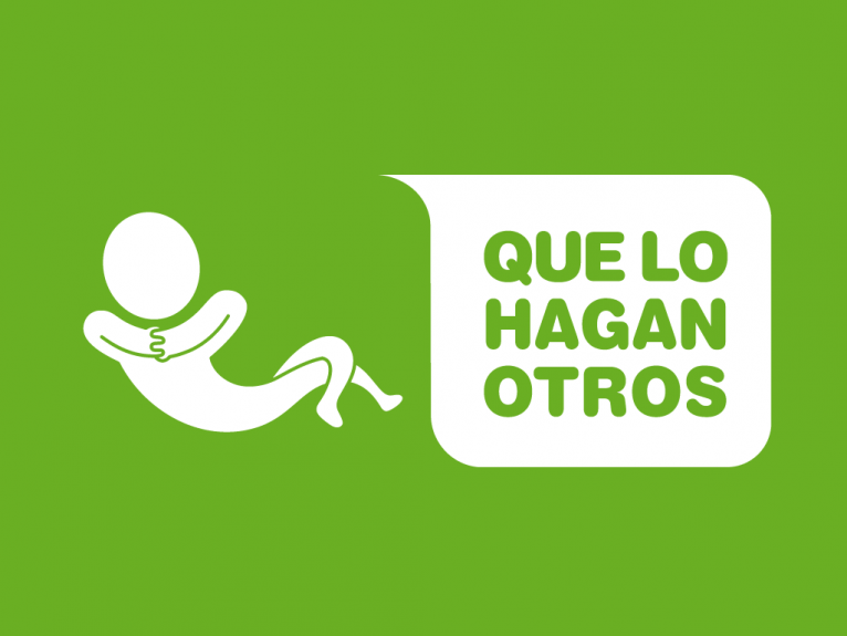 Logo design created for Que lo hagan otros, a housework and domestic services company based in Gijón, Spain.