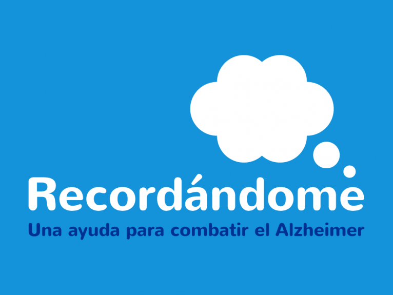 Logo design for ehealth app Recordándome, a mobile devices app that helps battling with alzheimer disease.