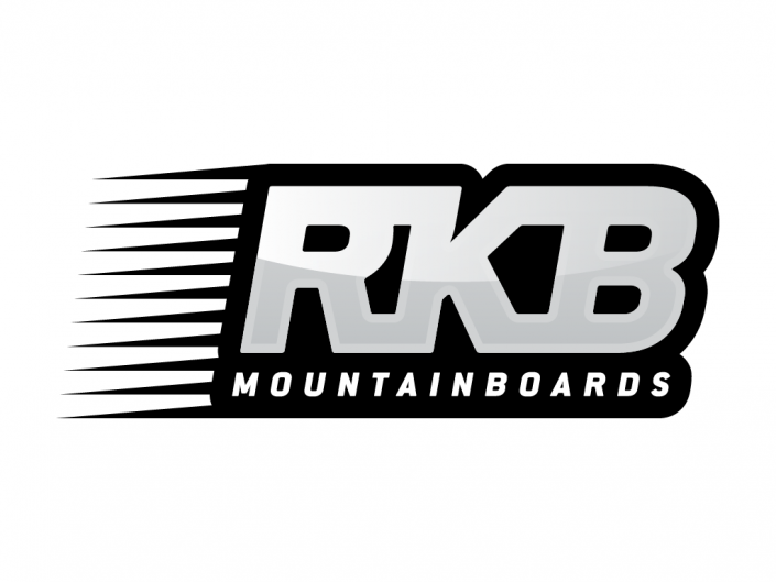Logo design for RKB mountainboards, a range of skateboards with pneumatic tyres by Radsails, a traction kites company of Eolo-Sport based in Gijón, Spain.