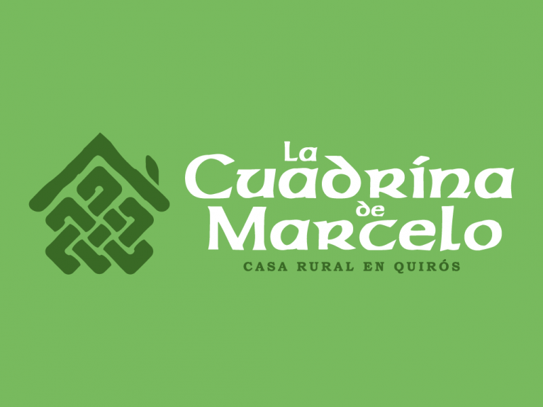 Logo design for La cuadrina de Marcelo, rural house in Quirós, Asturias, Spain.