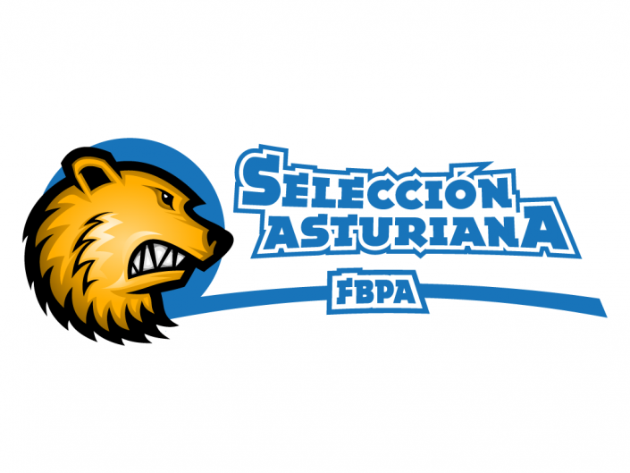 Logo design for asturian basketball federation team