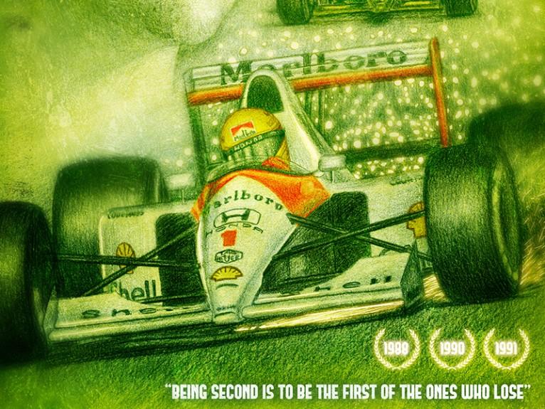 Ayrton Senna dibujo Mclaren Honda