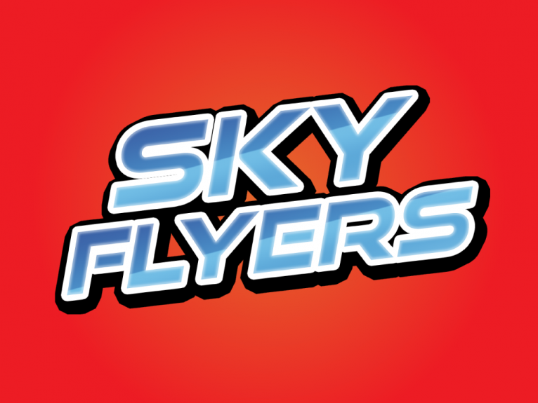 Logo design for Sky flyers, a brand of a range of kites manufactured for Dollar General by Eolo-sport, a kite and toy manufacturer company based in Gijón, Spain.