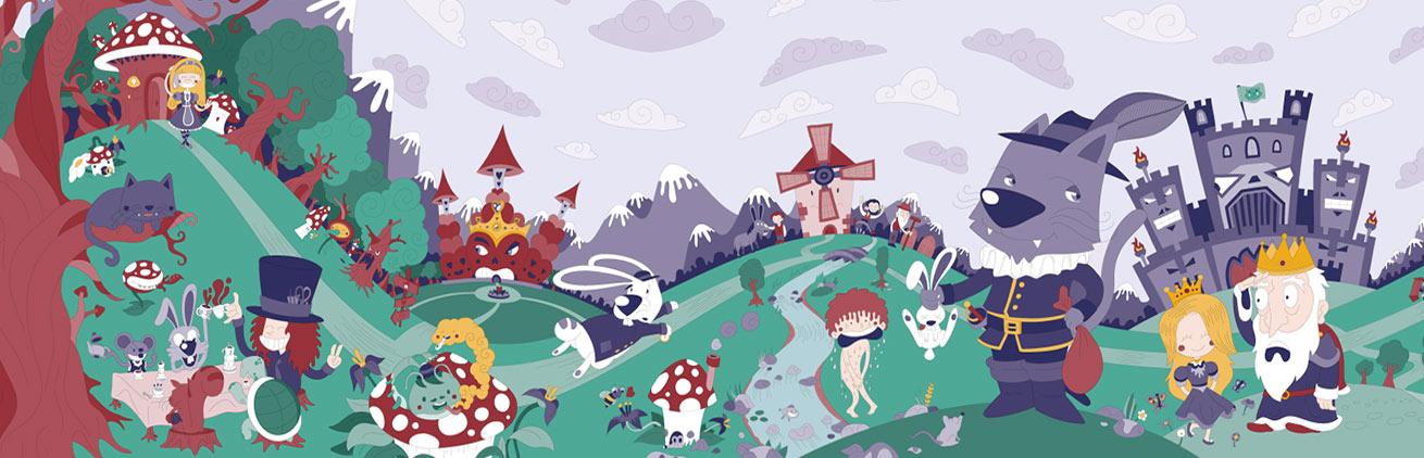 Wondertales classic children tales illustrated book