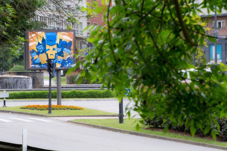 City vector illustration mupi in Oviedo