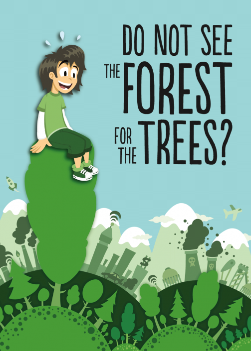 Vector illustration forest and city