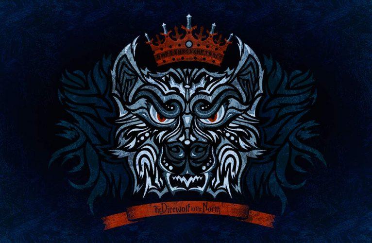 Stark direwolf vector illustration from Game of Thrones
