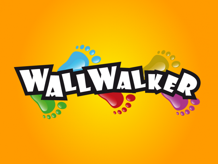 Logo design created for Wallwalker toys, a range of characters manufactured by Eolo-Sport under licenses of Disney and Pixar such as Mickey Mouse, Winnie the Pooh, Tiger and Buzz Light Year