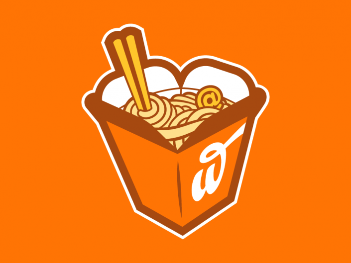 Logo design for Webstaurant, a hostelry and lowcost fast food local business in Bilbao
