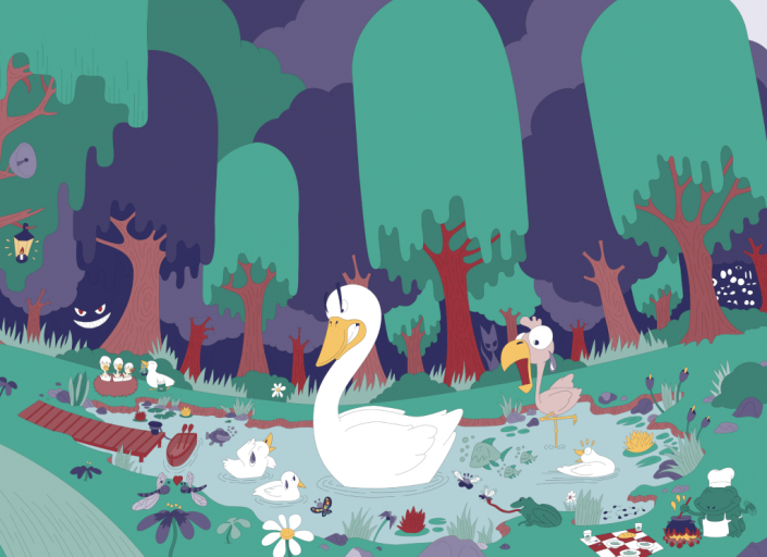 Ugly Duckling digital vector illustration