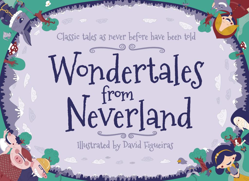 Designing A Children S Book Cover ~ Wondertales from neverland children book vector illustration